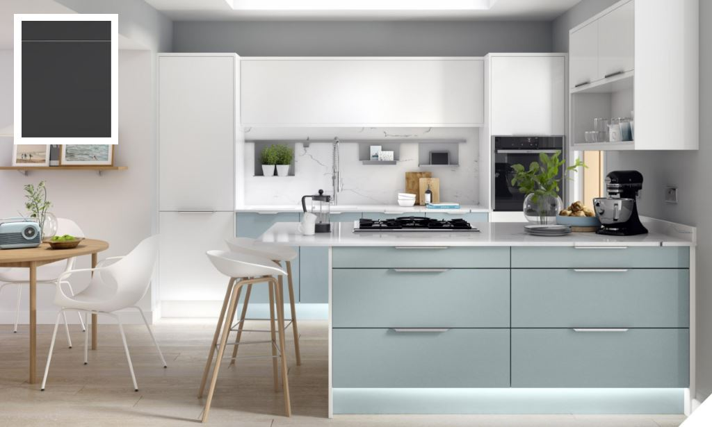 Unity Supermatt Graphite Kitchen