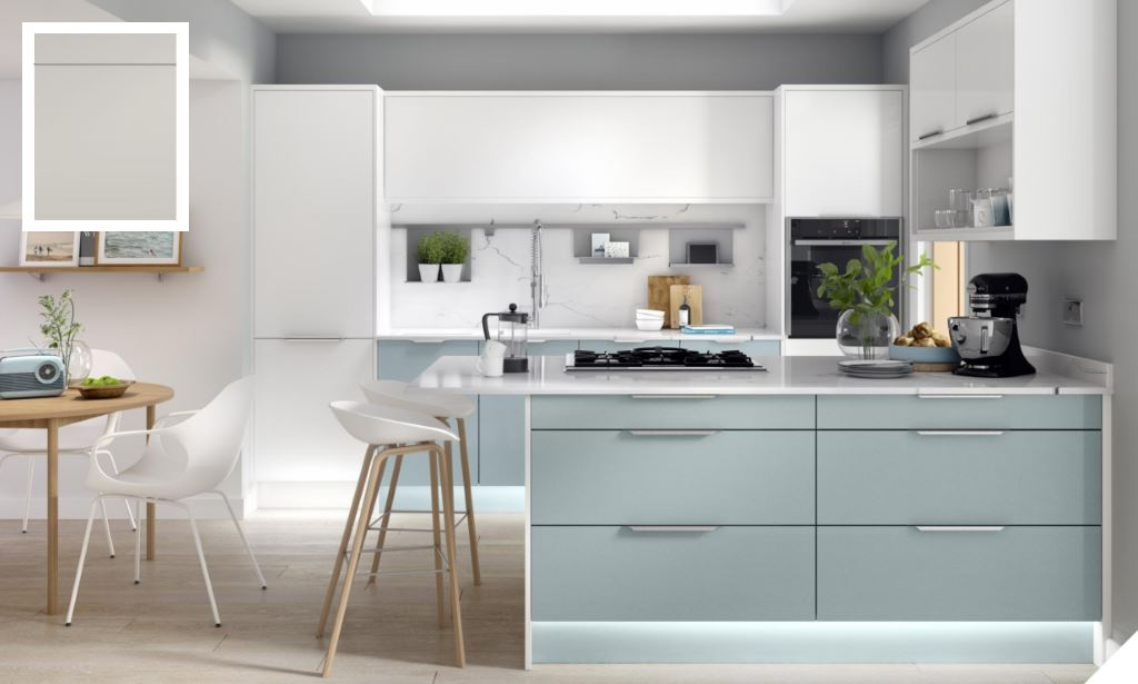 Unity Supermatt Light Grey Kitchen