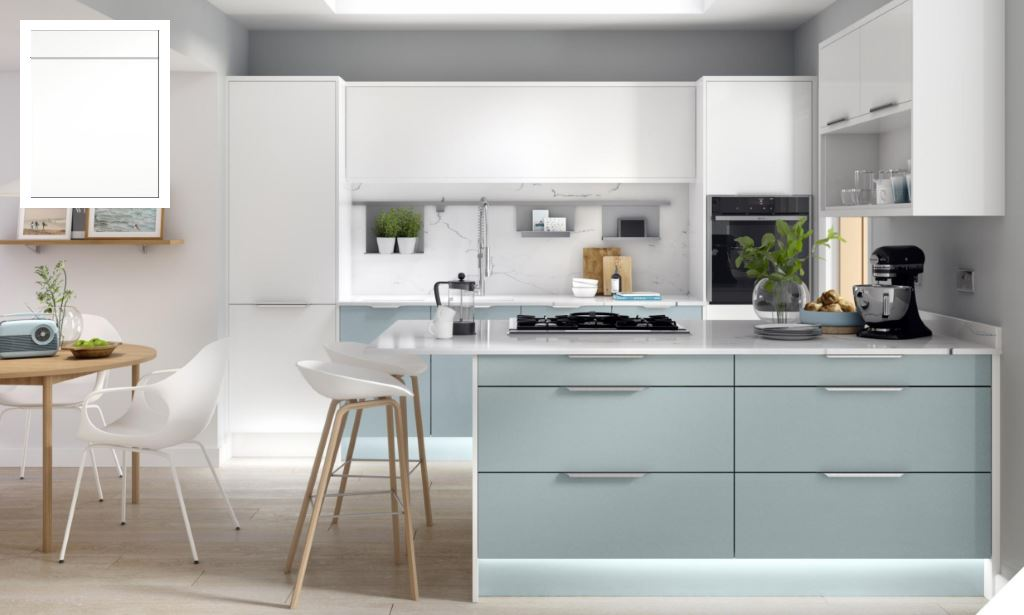 Unity Supermatt Pure White Kitchen