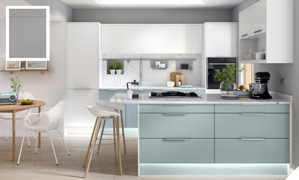 Unity Supermatt Steel Grey Kitchen