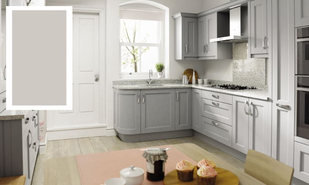 Mornington Beaded shaker kitchen dove grey