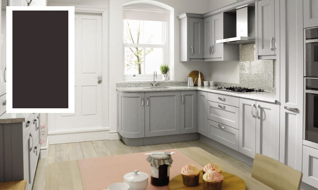 Mornington Beaded shaker kitchen graphite