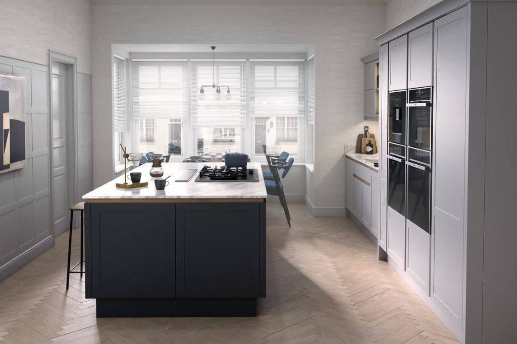 Ellerton true handleless painted kitchen