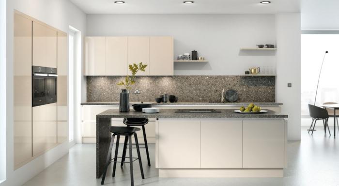 Complete Kitchen Package Vivo Gloss Vero Handless Stone