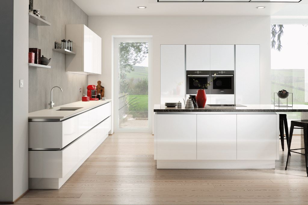 Vivo high gloss true handleless kitchens from TKC