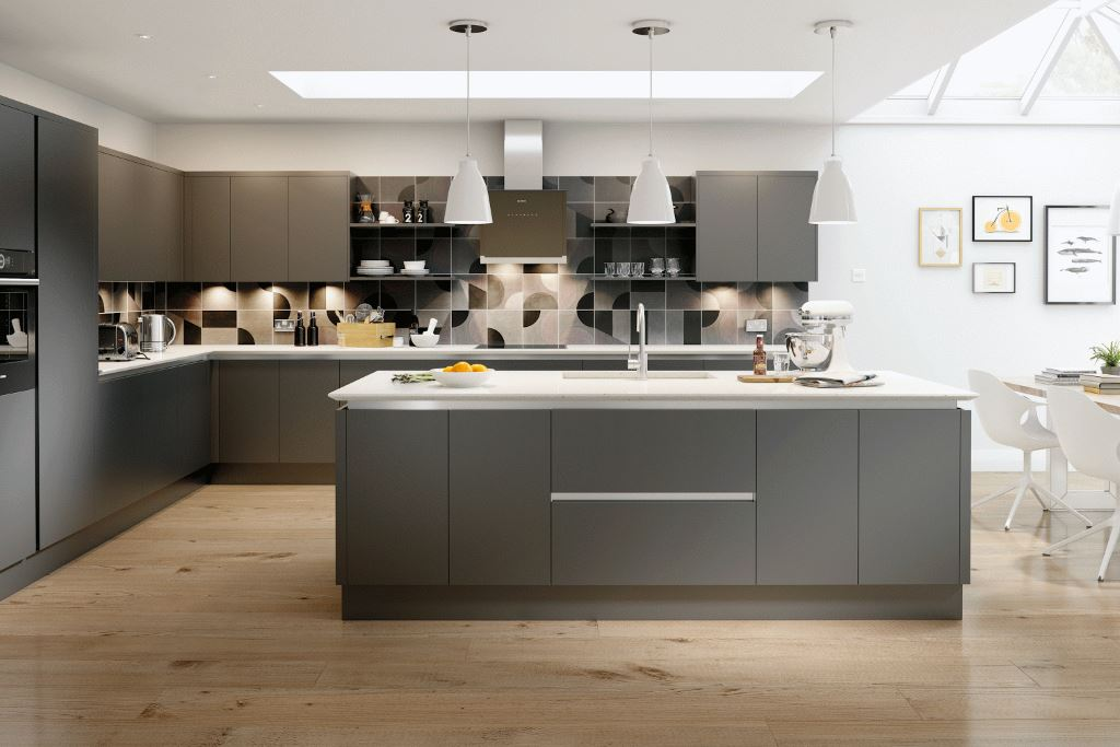 Vivo Anthracite Matt True Handleless Kitchen