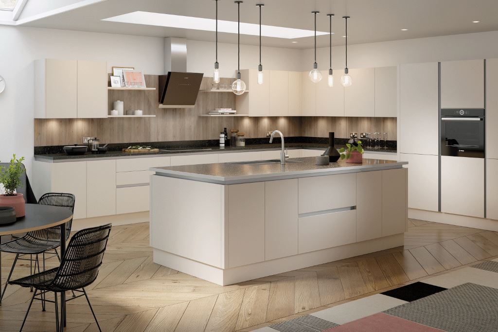 Vivo Cashmere Matt True Handleless Kitchen