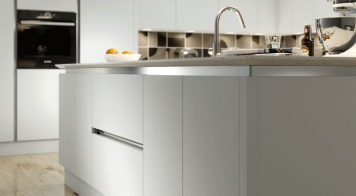 Vivo Grey Matt True Handleless Kitchen