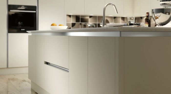 Vivo Ivory Matt True Handleless Kitchen