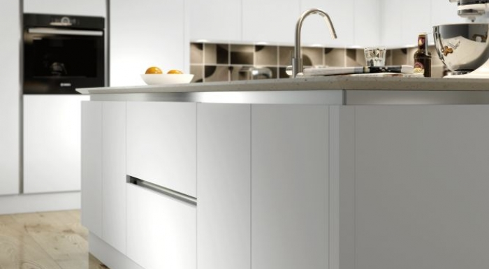 Vivo White Matt True Handleless Kitchen