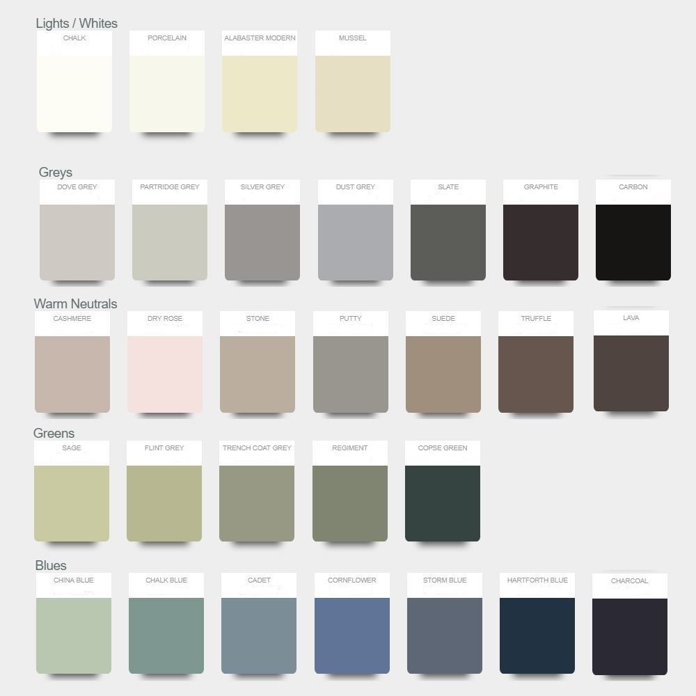 1909 painted colour options