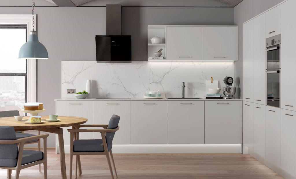Kitchen Stori / Uform Zola soft matte light grey