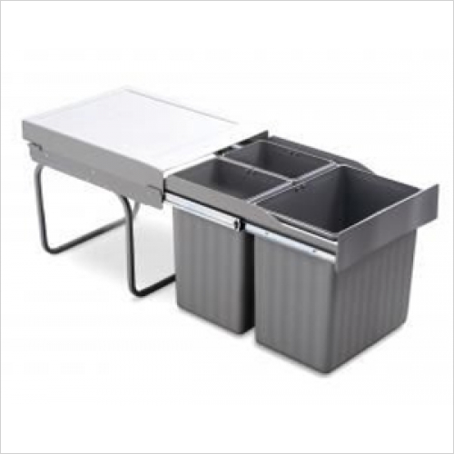 Fitted Bins - Pull-Out Waste Bin, 1 x 16 Litre & 2 x 7.5 Litre