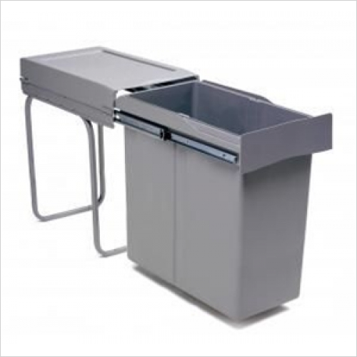 Fitted Bins - Pull-Out Waste Bin, 40 Litre, Full Extension Runners