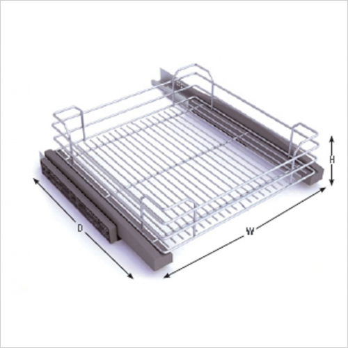 Drawer Upgrade - Fitted 600mm Pull Out Wire Baskets