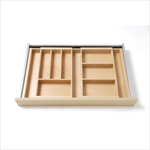 Beech - Expandable cutlery tray large