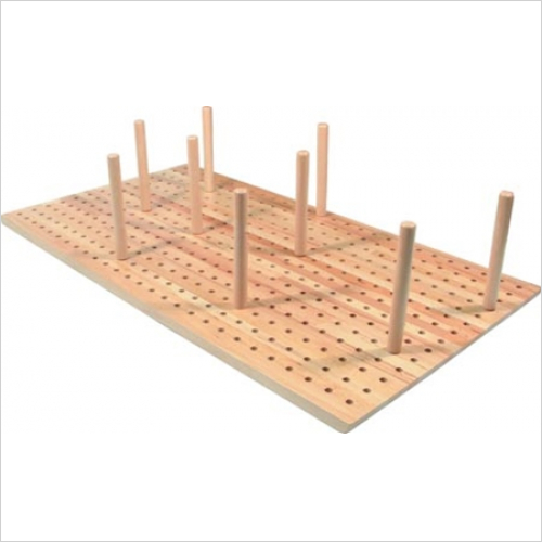 Beech - Beech Plate Holder Peg Board
