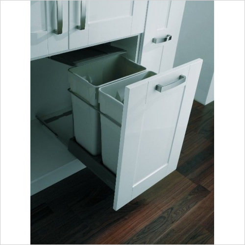Fitted Bins - Pull-Out Waste Bin, 2 x 35 Litre