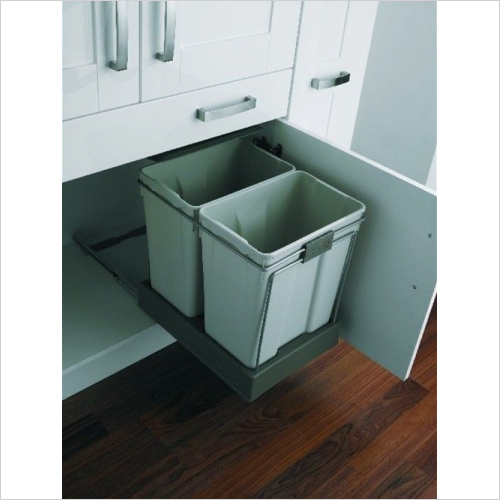 Fitted Bins - Pull-Out Waste Bin, 2 x 30 Litre